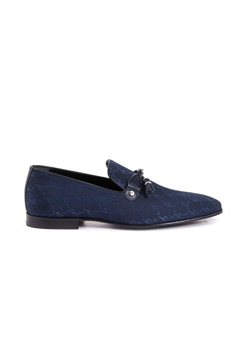 Kemal Tanca %100 Deri Klasik Ayakkabı Lacivert